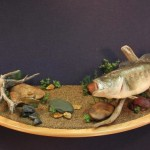 Largemouth Bass wall pedestal scene